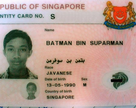 Batman Superman passport photo