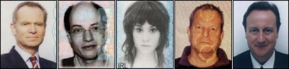 Passport photos of the famous